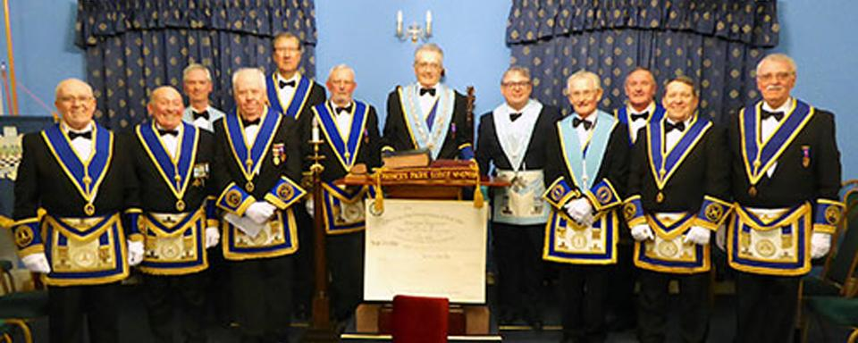 Almost all the remaining brethren of the lodge.