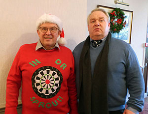 Sponsors of the event: Mike Cunliffe (left) and Kevin Birchall.