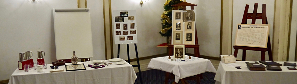 Centenary display of artefacts from the previous 100 years of Great Marton Lodge.