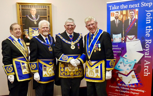 Pictured from left to right are; John Turpin, David Randerson, Tony Harrison and Martyn Jones.