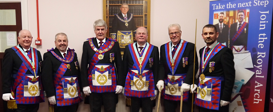 Pictured from left to right are: Harry Cox, Chris Butterfield, Paul Renton, Duncan Smith, Geoff Pritchard and David Thomas.