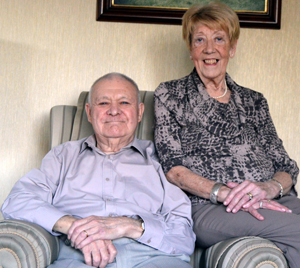 Bob and Margaret Baxendale relaxing at home.