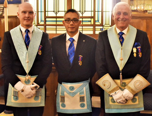 Pictured from left to right, are; Matty Bolton, Ferdinand Paule and David Baker.