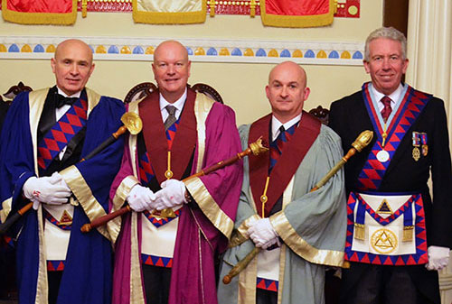 Pictured from left to right, are the installing principals: Bob Martin, Paul Copeland and Oliver Winder, with Mark Matthews.