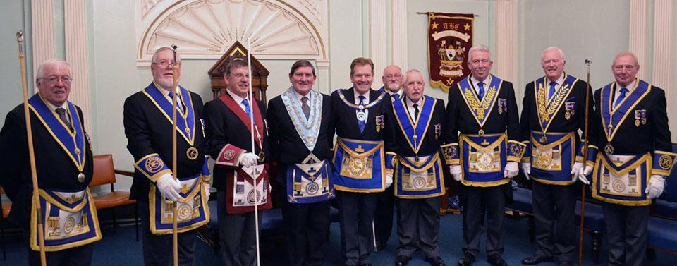 Lined up for a chorus? Pictured from left to right, are: Jack Parker, Norman Lay, John Shaw, Tom Hough, Kevin Poynton, Col Svenson, Bernie Ashley, Mark Mathews, John Roberts and Brian Boothroyd.