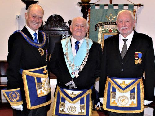 Pictured from left to right, are: Barry Jameson, Phillip Holland and John Ludlow.