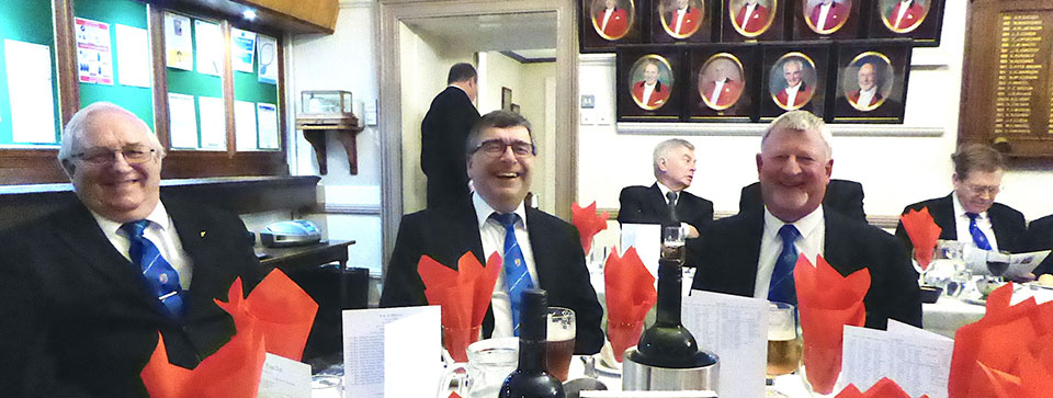 Diners enjoy the festive board.