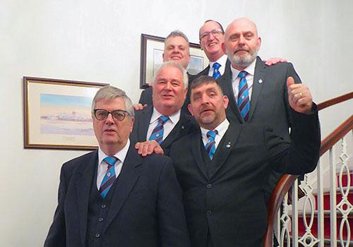 Visiting brethren from Football Lodge.