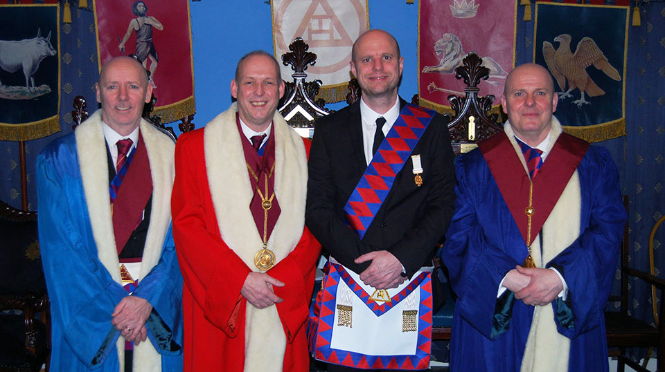 Pictured from left to right, are: Ian McGovern, Mike Fox, Ian Felton and Alan Routledge.