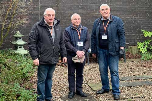 Pictured from left to right, are the three brethren: Mike Cunliffe, Rob James and Fred Hulse.