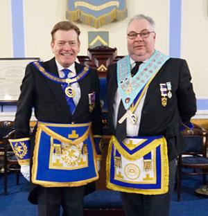 Kevin Poynton (left) and Mathew Barrow.
