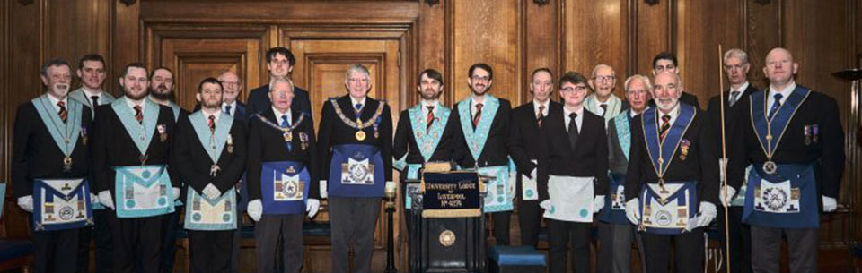 The emergency meeting: Lodge members with Tony Harrison and other dignitaries following the passing of four fellow crafts.
