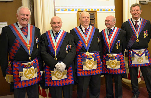 Pictured from left to right, are: John Roberts, Clive Jefferies, Dave Anderton, Mike Winterbottom and David Kemp.