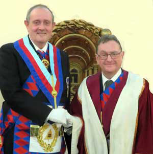 Tony (left) congratulates Roderick