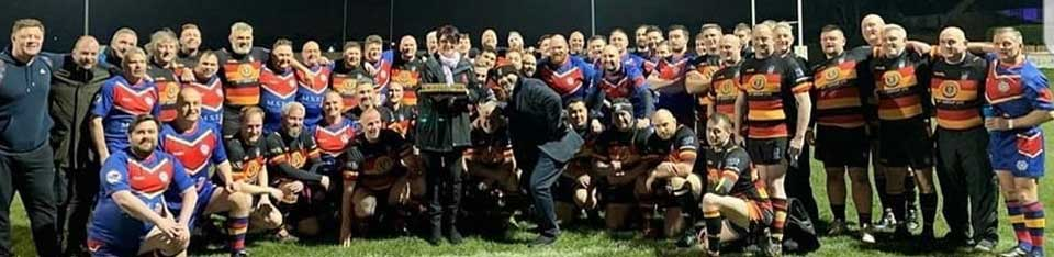 The Southport RFC 'Shipwrecks' and WLFRFC teams in very good spirits.