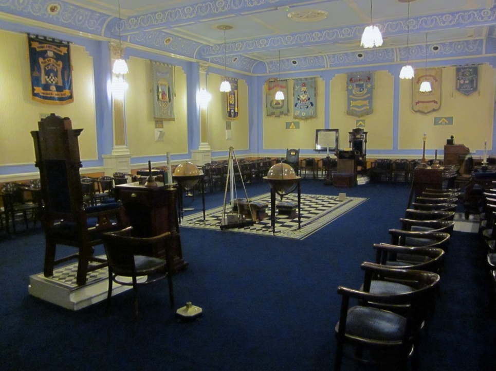 The upper lodge room.