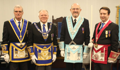 Pictured from left to right, are: John Selley, Derek Parkinson, Don Atkinson and Phil Barr.