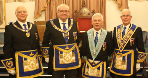 Pictured from left to right, are: David Ogden, Phil Gunning, John Lomax and Geoffrey Porter