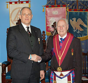 David Boyle (left) with his father Brian.