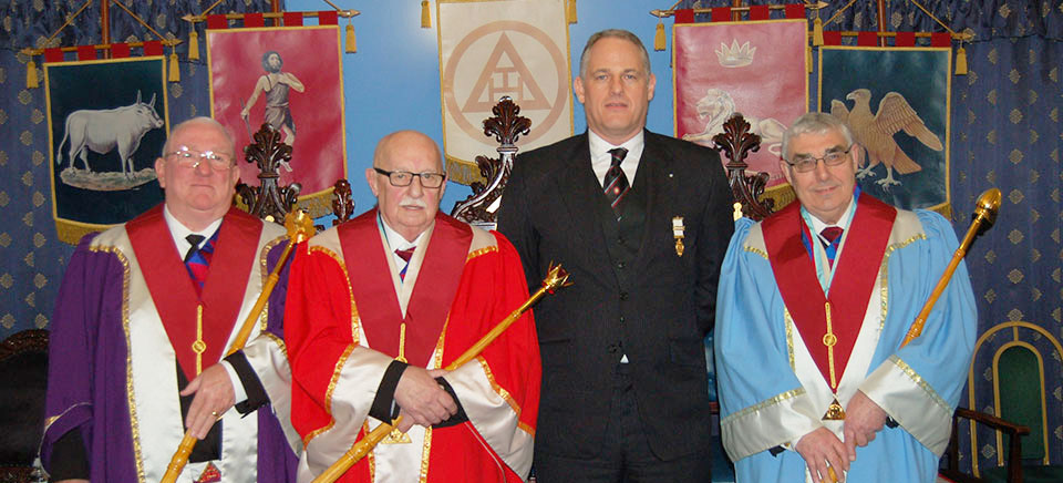 Pictured from left to right, are: Stephen Cornwell, John Leisk, David Boyle and Fred Hulse.