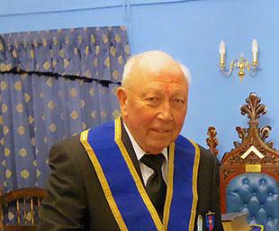 Alan Dean marks 50 years in Freemasonry