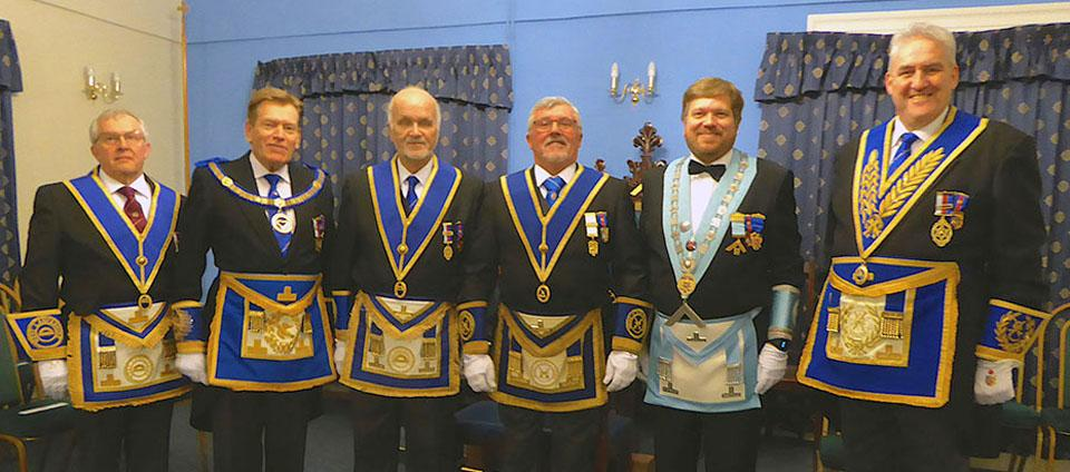 Pictured from left to right, are: Mike Cunliffe, Kevin Poynton, David Moore, Norman Pollock, Chris Taplin and Andrew Whittle.