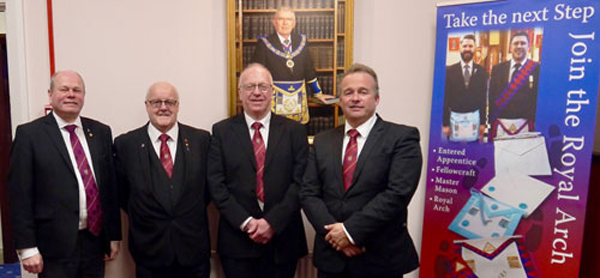 Pictured from left to right, are: Duncan Smith, Jim Harper, Rory Maskell and Chris Cash.