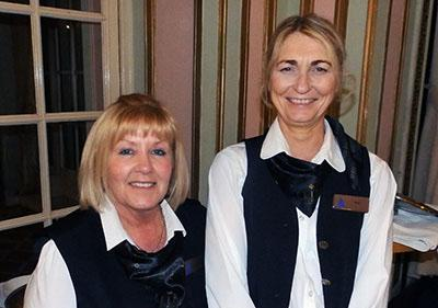 Silver service from Nicky (left) and Marie.
