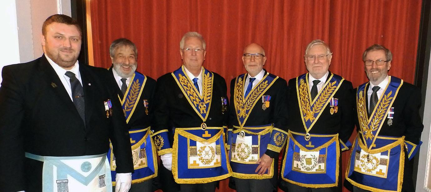 Pictured from left to right, are; Roy Heaney, David Potts, John Murphy, John James, Michael Collins and David Hilliard.