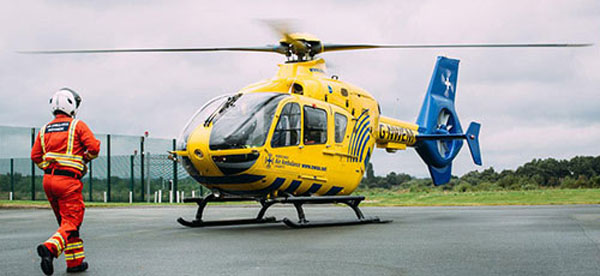 North West Air Ambulance prepares for take-off.