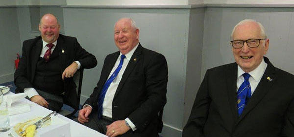 Pictured from left to right, are: John Cross, Harry Cox and Peter Greathead.