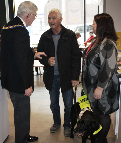 Chatting with a trustee. Pictured from left to right, are: Tony Harrison, Tony Kimpton and Nicola Hanna.
