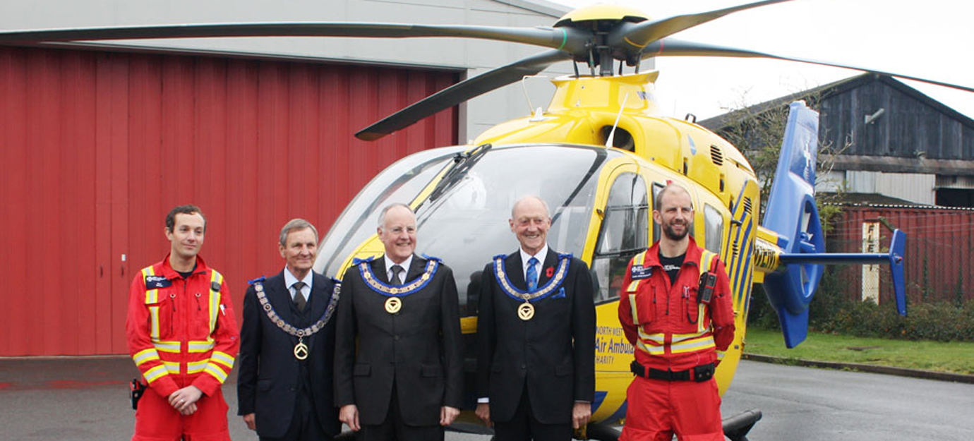 Pictured from left to right, are: Dr Oli Harrison, John Farrington, Simon Palfreyman, Barry Jameson and Rob Evans.