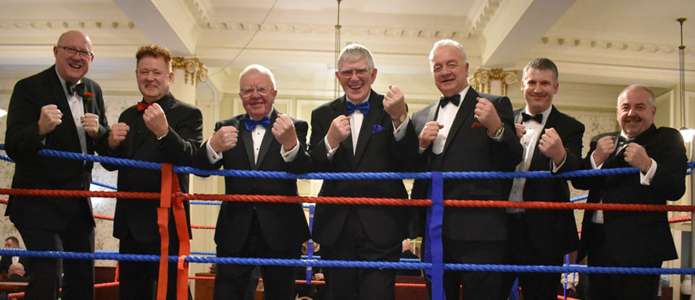 A formidable team at the Furness and South Lakes boxing tournament.