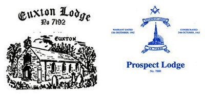 Euxton Lodge and Prospect Lodge logos.