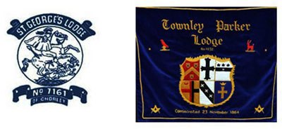St George's Lodge of Chorley and Townley Parker Lodge logos.