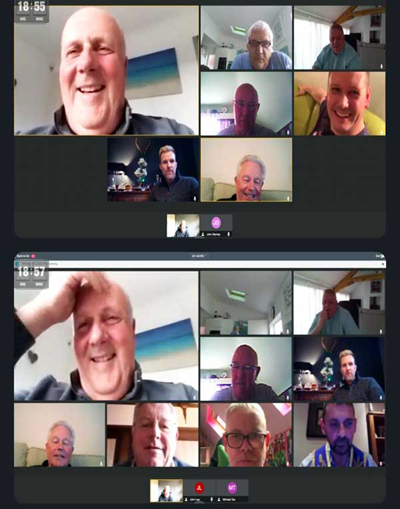 Screen shot from the Slack meeting.