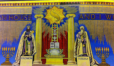 Part of a mural in Grand Lodge.