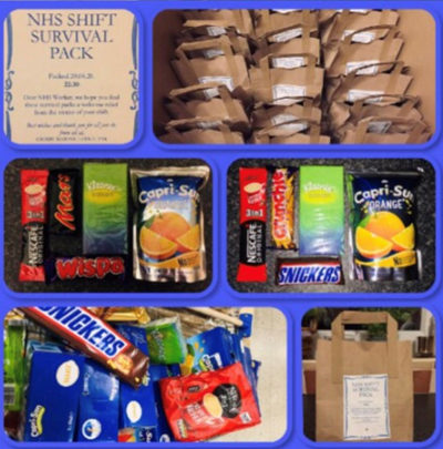 The NHS shift survival pack.