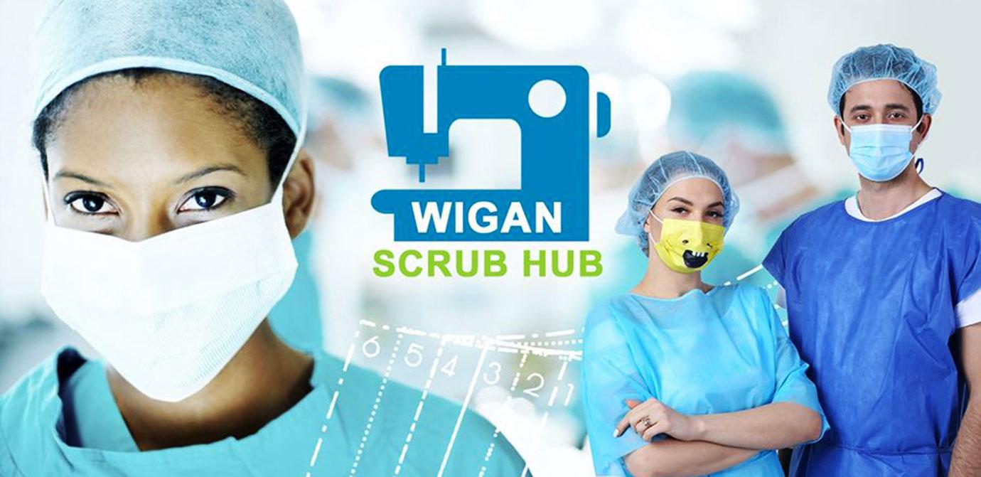 Hospital staff in 'Scrubs' PPE.