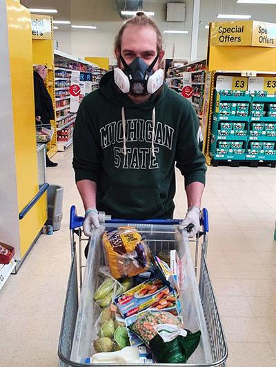 A MAT team volunteer goes shopping.