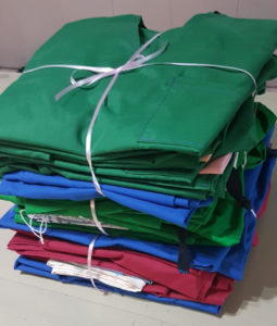 Newly completed scrubs ready to be delivered.