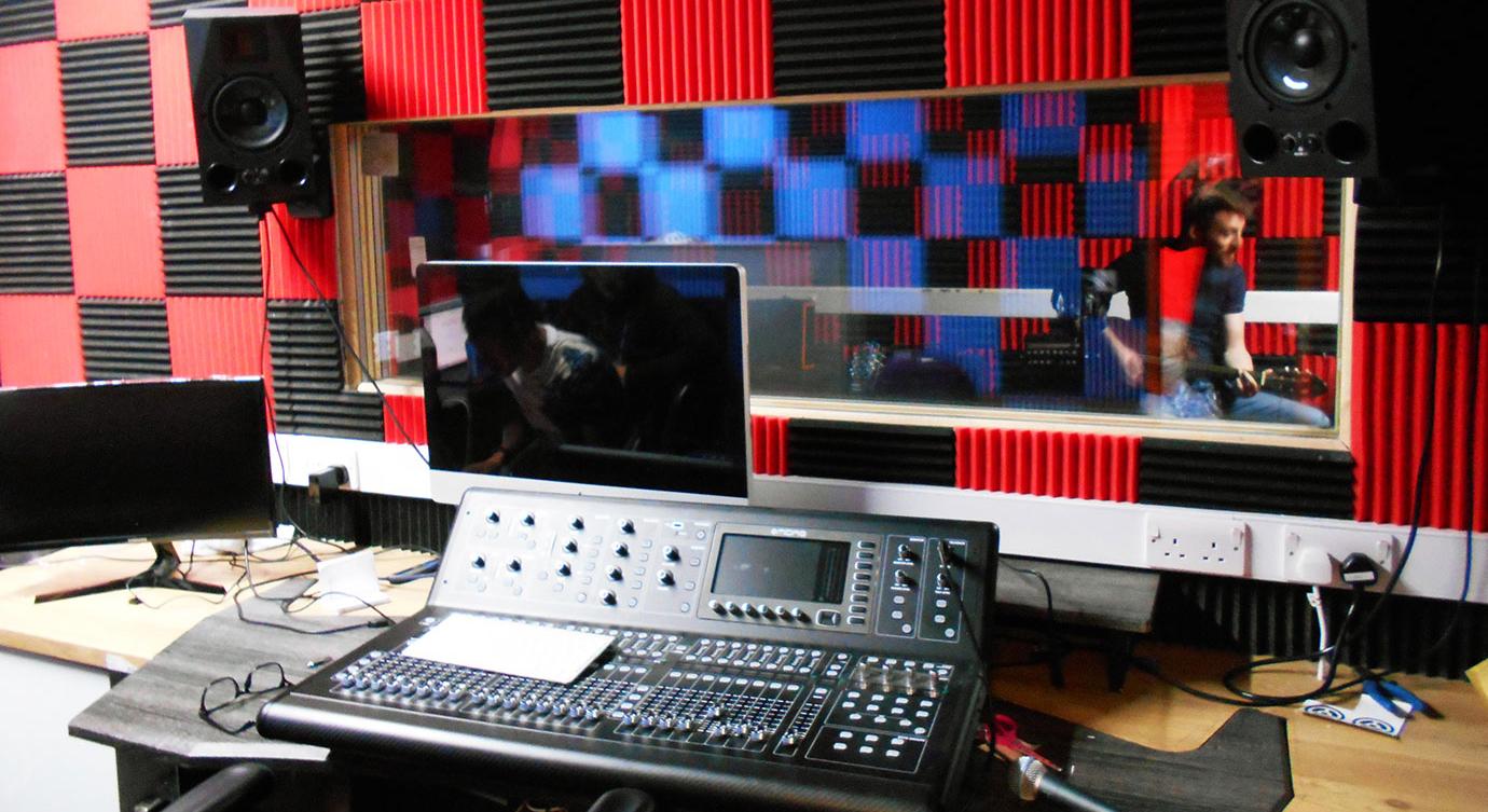 Part of the Team Oasis recording studio.
