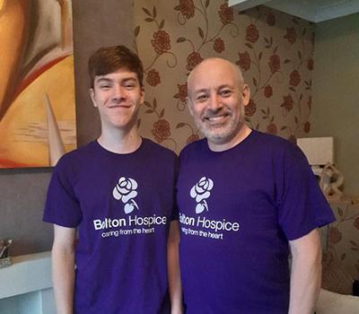 Gary Matthews and his son Ellis.