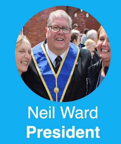 Neil Ward, president of the club.