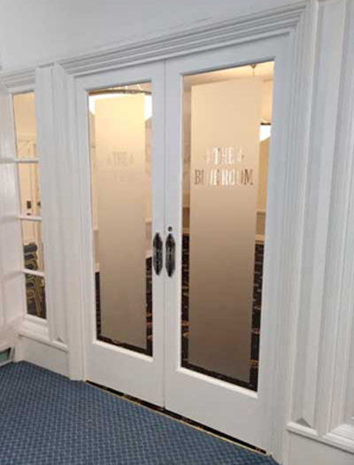 The new doors to the Blue Room.