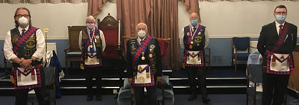 The Three Principle's pictured on front row from left to right, are: Andy Baxendale, Greg Casson and Iain Wilson. Back row from left to right, are: Bill Bruce and Geoff Gill.