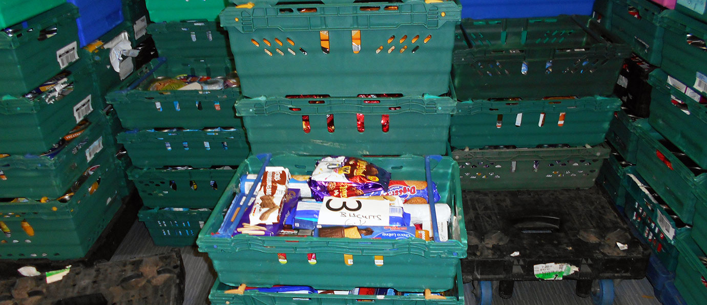 Examples of food donations to the foodbank.