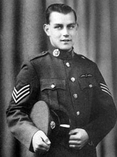 Arthur in his RAF uniform as a sergeant pilot.