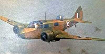 Arthur's aircraft: Airspeed Oxford NJ288.